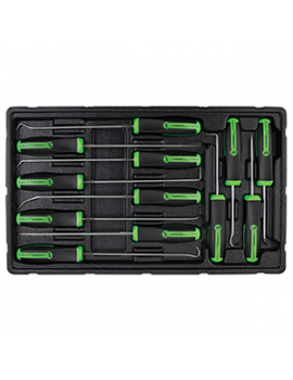 cornwell 12pc hook and pick set neon green
