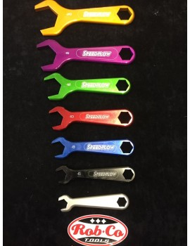 Anodised pipe fitting spanners 7 peice