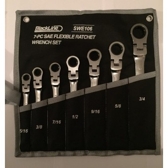 Flexable head imperial ratchet spanners